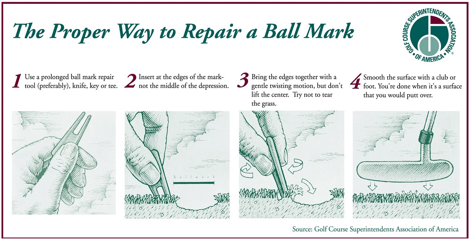 Did you fix your ball mark on the green? Well did you ...
